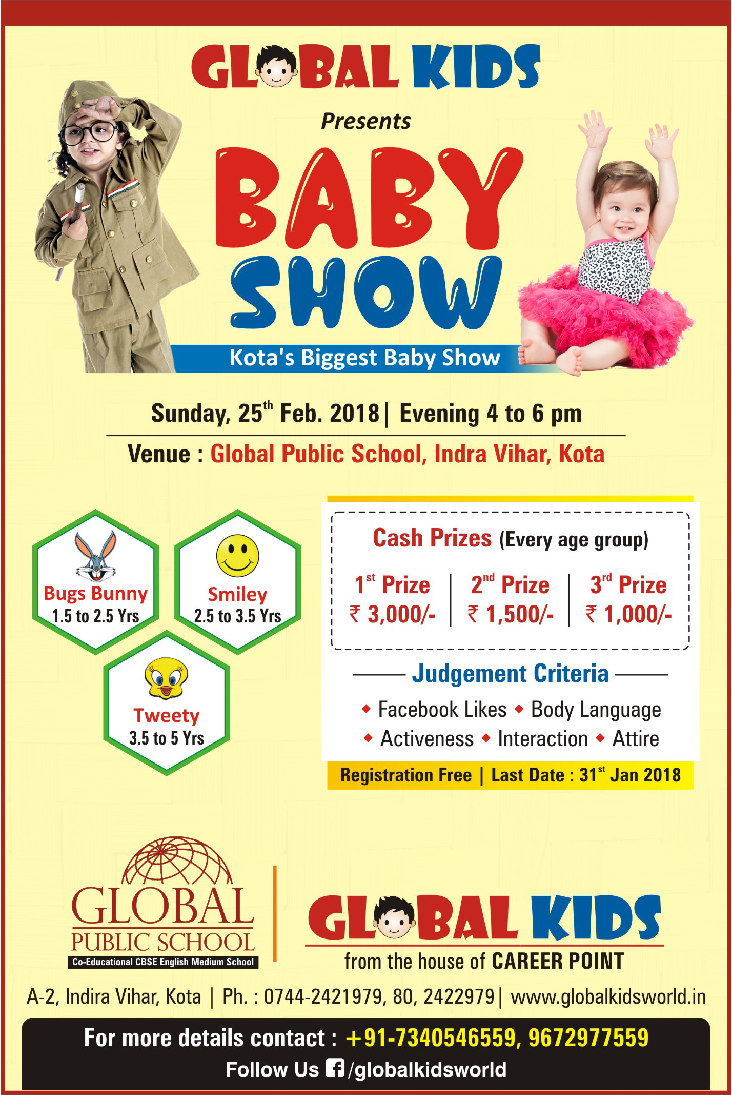 Baby Show in Global public school